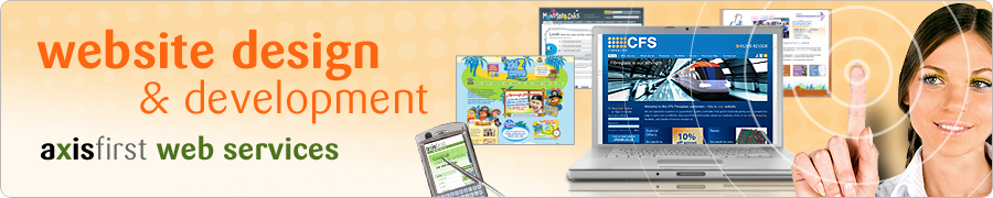 website design and development from axisfirst web services