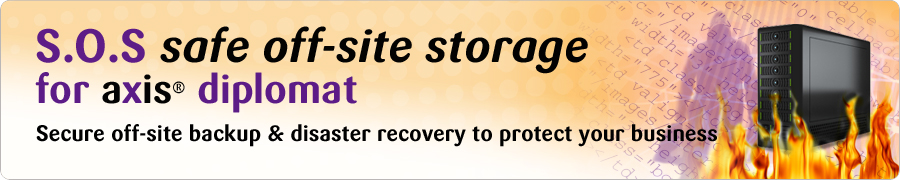 SOS - Safe Off-Site Storage for your Accounting, Stock Control and Order Processing Data