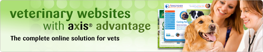 veterinary websites with axis advantage