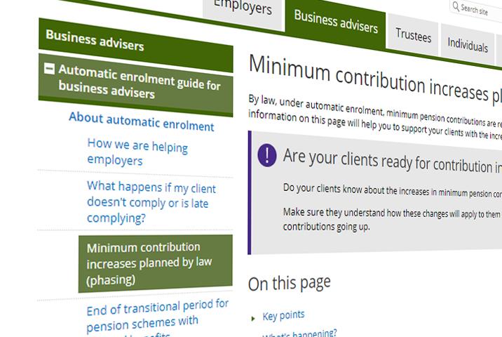 Workplace Pension Minimum Contribution Changes