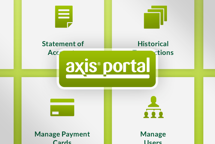 NEW! axis portal offers customers online account management class=