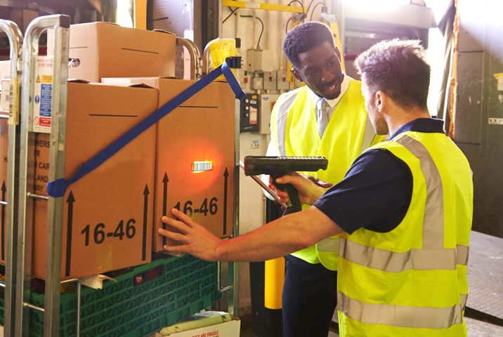 warehouse management software being used to check stock